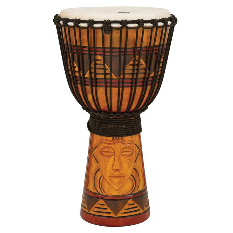 """Toca Origin Series Djembe, Tribal Mask, 12"""" Head x 24"""" Tall"""