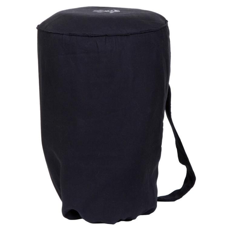 Medium Djembe Tote Bag - Black Padded Cotton, (For 9x16 Djembes)