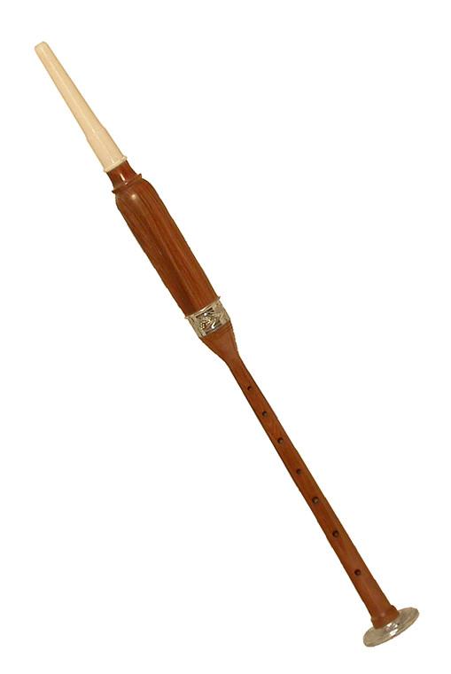 """Roosebeck Satinwood Practice Chanter Nickel Plated Ferrule & Sole 19"""""""