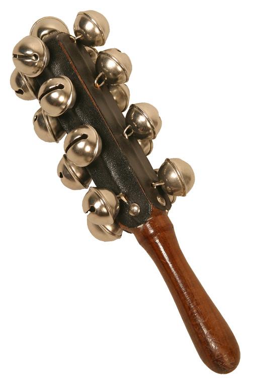 DOBANI Hand Sleigh Bells on Wooden Handle
