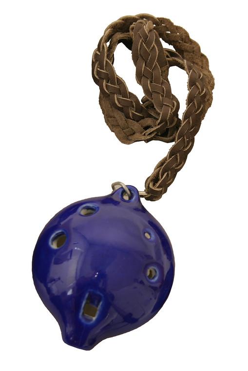 DOBANI Alto Ocarina w/ Braided Necklace A4 - Blue