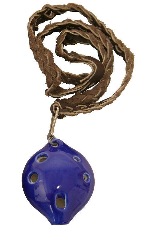 DOBANI Soprano Ocarina w/ Braided Necklace D5 - Blue