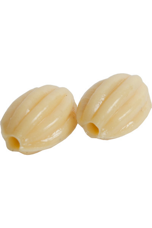 banjira Plastic Fluted Egg Bead 2-Pack