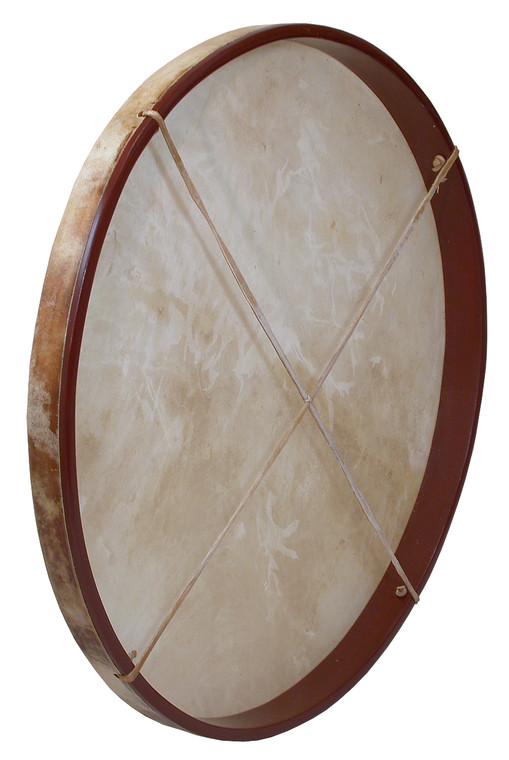 "DOBANI Pretuned Goatskin Head Wood Frame Drum w/ Beater 30""x2"""