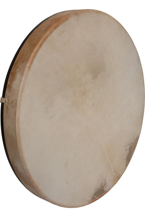 "DOBANI Pretuned Goatskin Head Wood Frame Drum w/ Beater 18""x2"""