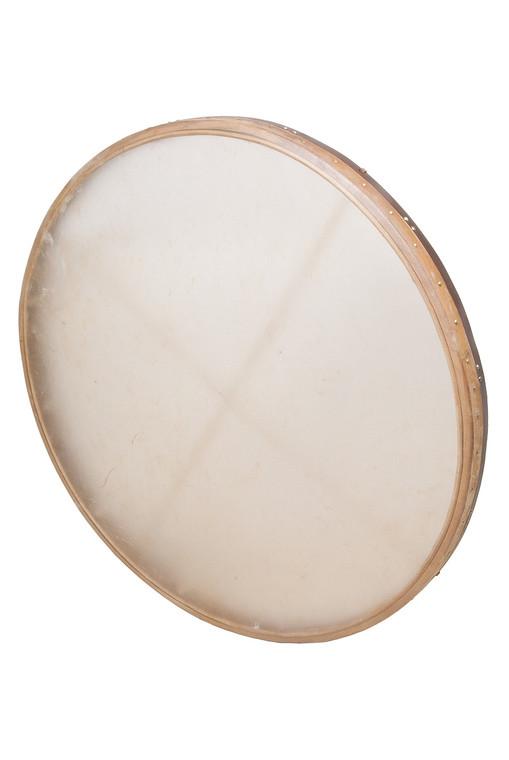 "DOBANI Tunable Goatskin Head Wooden Frame Drum w/ Beater 38""x2.25"""
