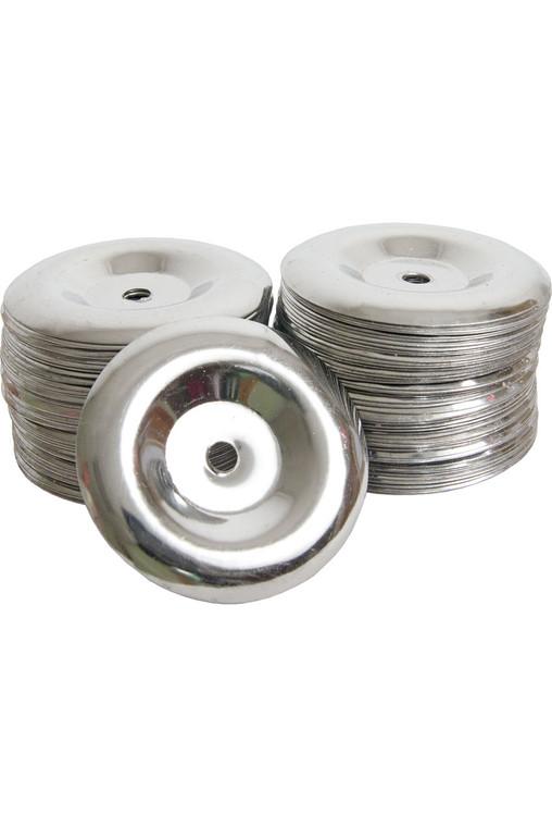 Mid-East Dimpleless Steel Tambourine Jingles 100-Count
