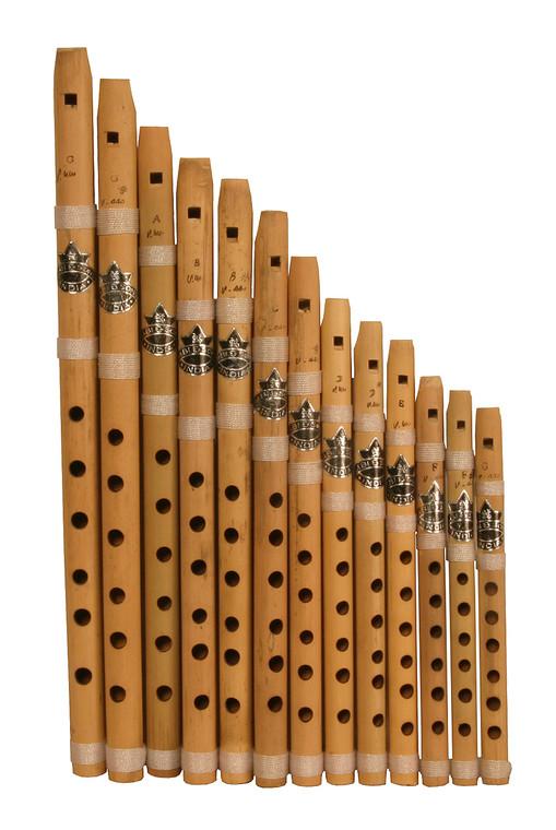 Nabi & Sons Bamboo Whistle Set 13-Piece