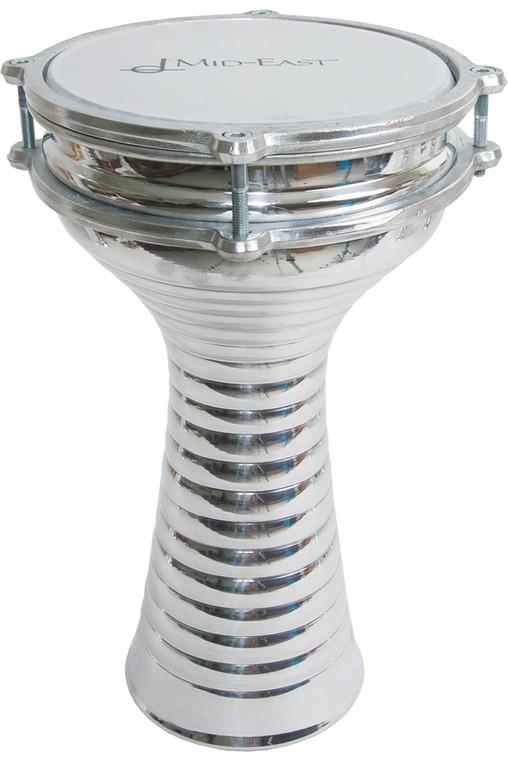 "Mid-East Zebra Aluminum Doumbek 6.5""x12"""