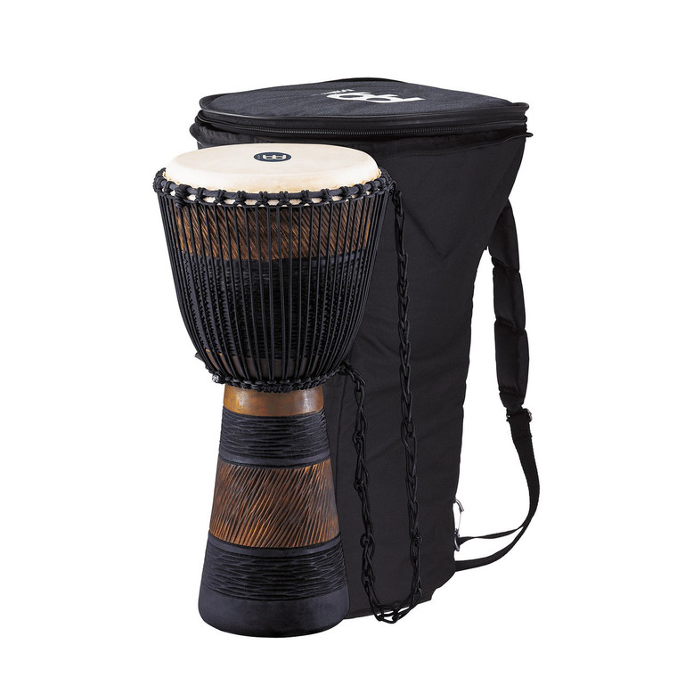 Meinl African Style Rope Tuned Djembe 12 in. Large + Bag, Earth Series