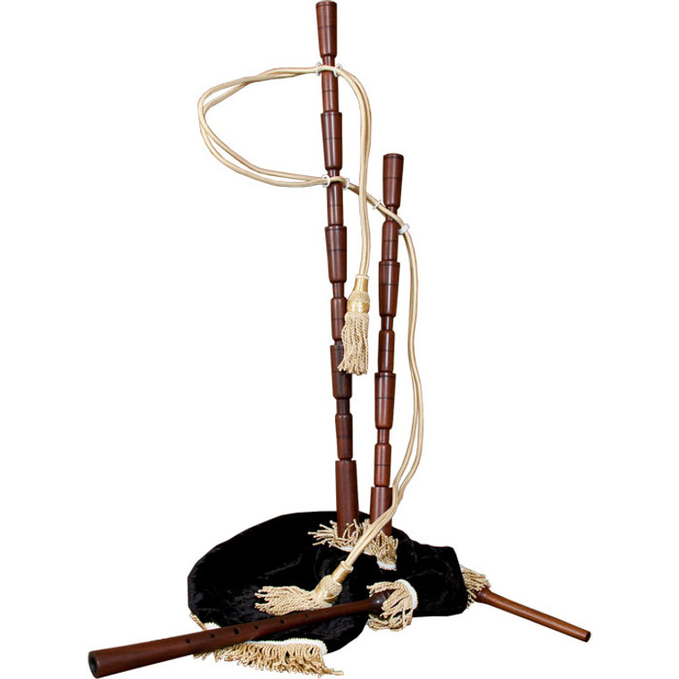 Roosebeck Medieval Sheesham Bagpipe w/out Mounts w/ Black Velvet Cover