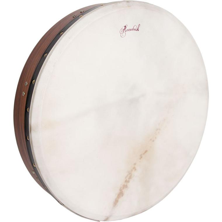 "Roosebeck Tunable Sheesham Bodhran Cross-Bar Soft Natural Head 18""x3.5"