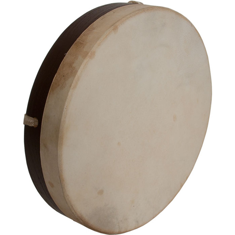 "DOBANI Pretuned Goatskin Head Wood Frame Drum w/ Beater 10""x2"""