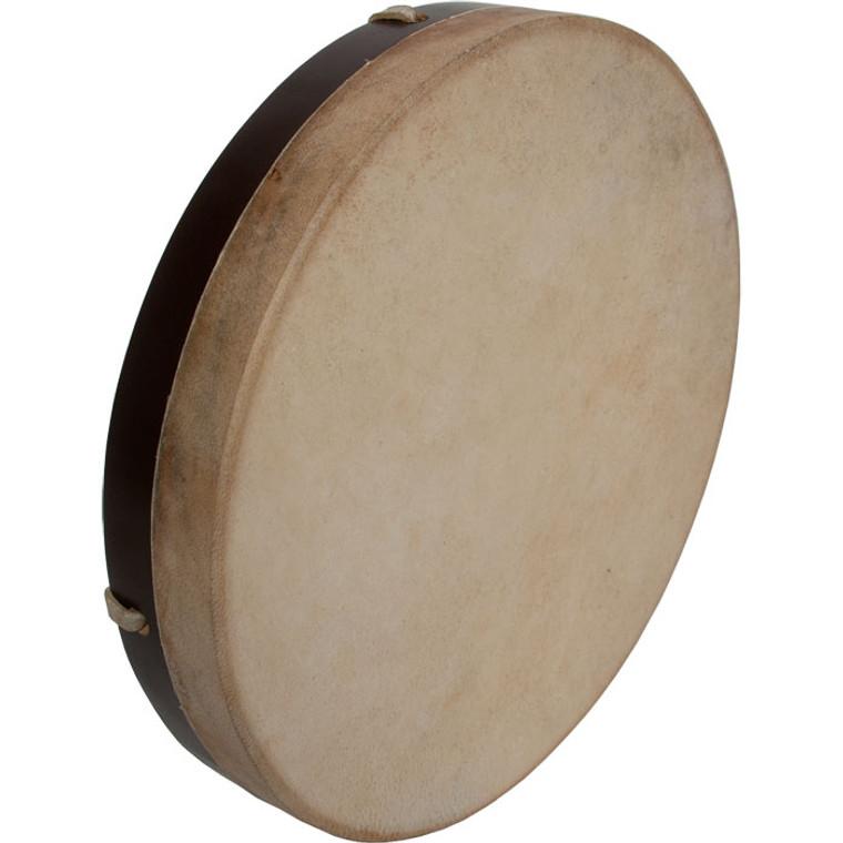 "DOBANI Pretuned Goatskin Head Wood Frame Drum w/ Beater 12""x2"""