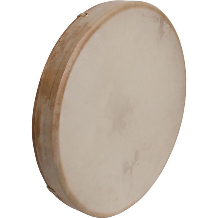 "DOBANI Tunable Goatskin Head Wooden Frame Drum w/ Beater 16""x2"""