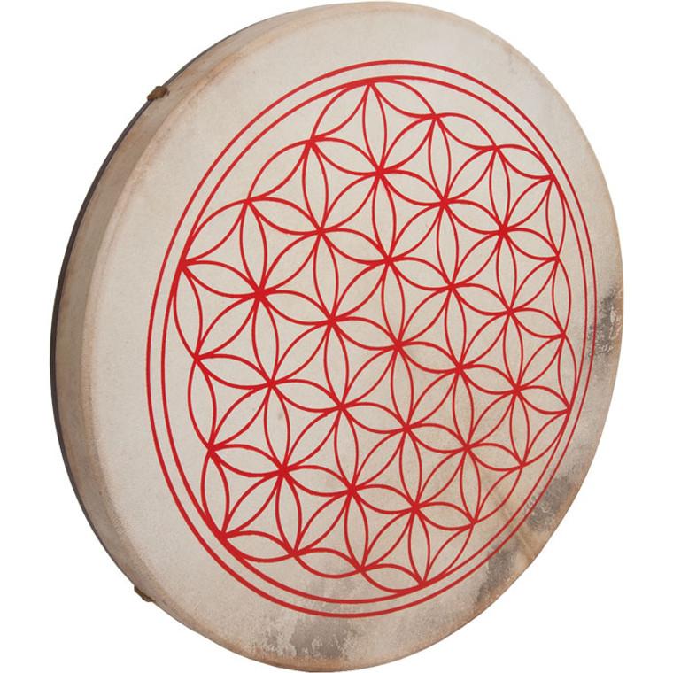 "DOBANI Pretuned Goatskin Head Wood Frame Drum w/ Beater 18""x2"" Circle of Life"