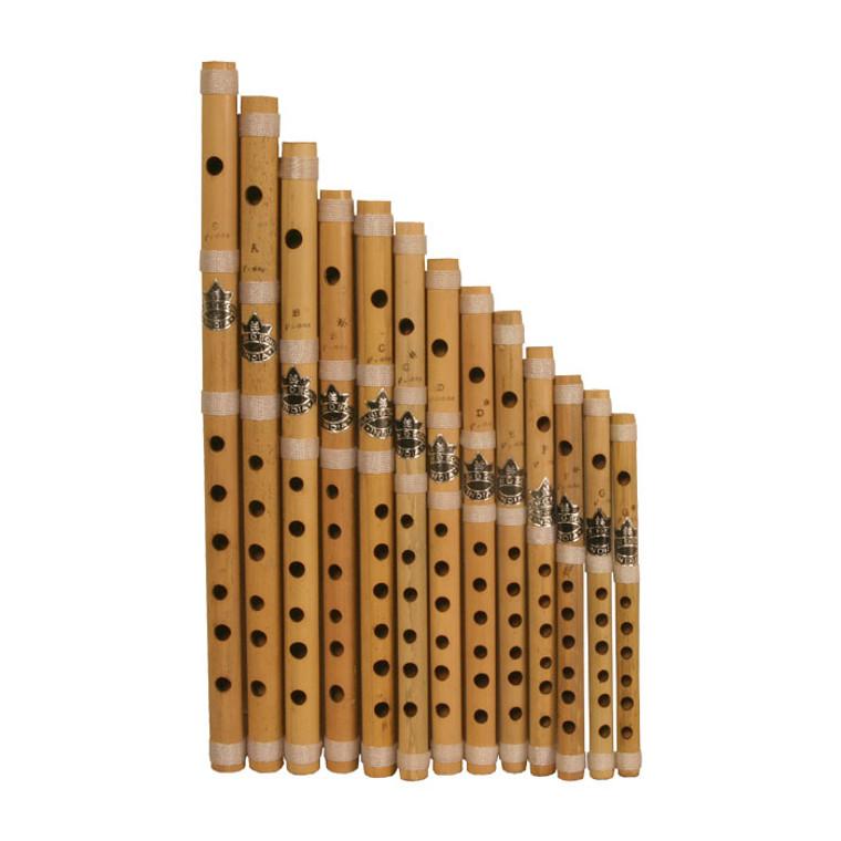Nabi & Sons Cross Blown Bamboo Flute Set 13-Piece