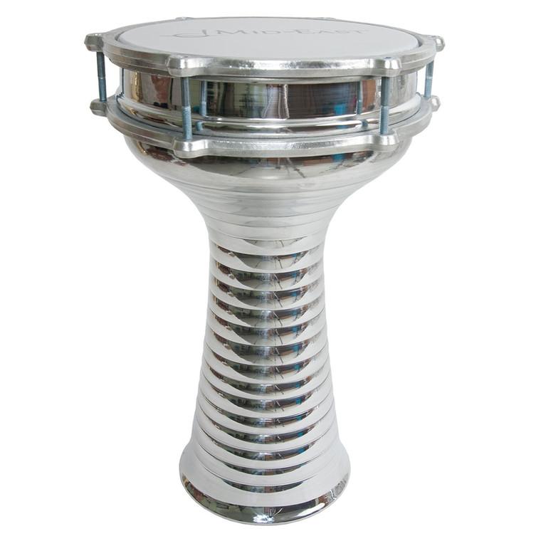 "Mid-East Zebra Aluminum Doumbek w/ Internal Jingles 8.5""x15"""