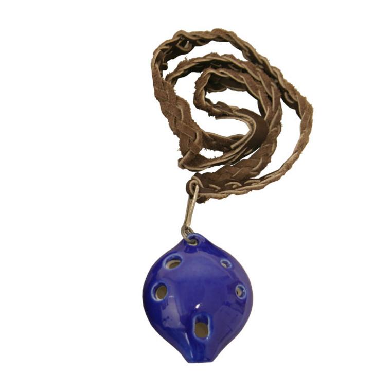DOBANI Soprano Ocarina w/ Braided Necklace D5 - Blue *Blemished