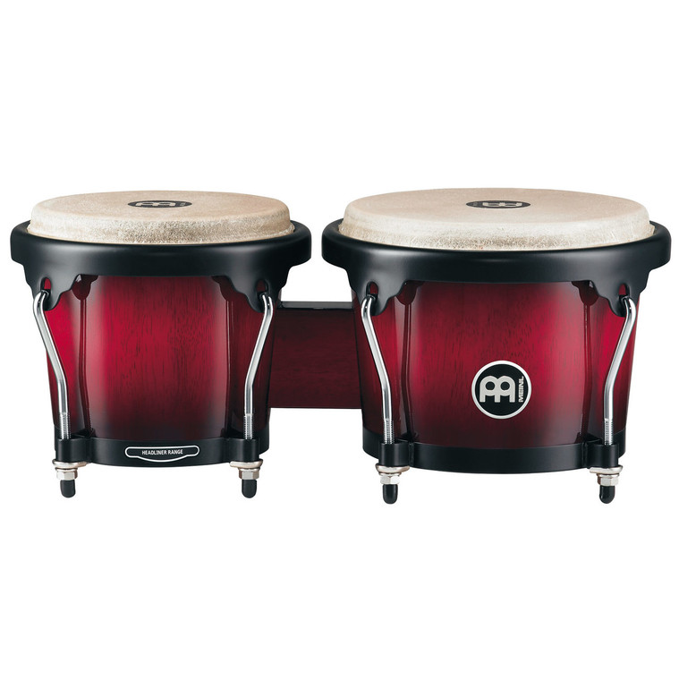 Meinl Headliner Series Wood Bongos Wine Red Burst