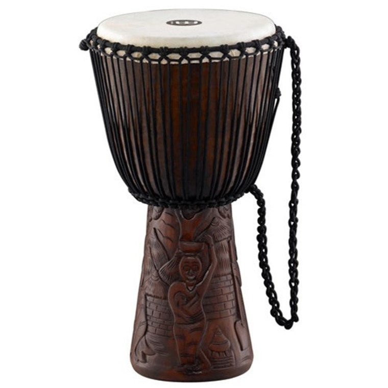 Meinl Professional Djembe 10 in. African Village Carving