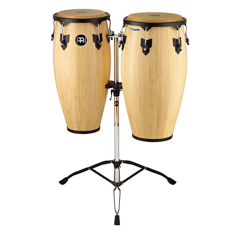 Meinl Headliner Wood Congas Set Natural 11 and 12 in. with Tripod Stand