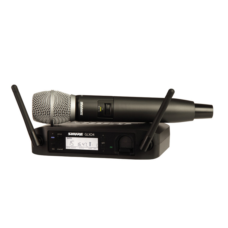 Shure GLXD24/SM86-U Handheld Wireless Microphone System