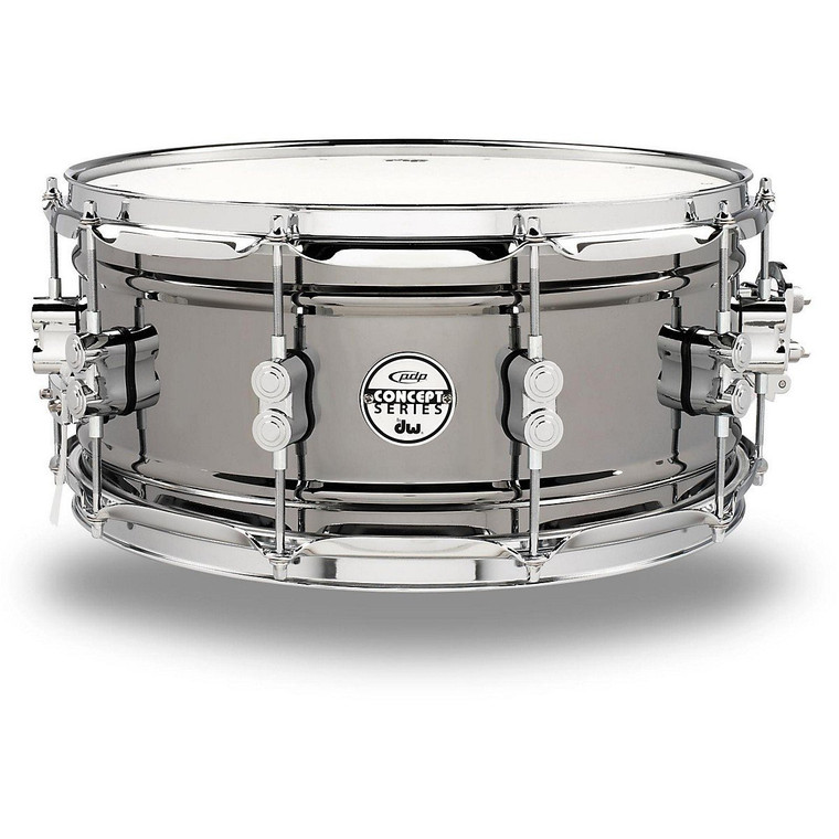 """Pacific by DW 6.5"""" x 14"""" Black Nickel Over Steel Snare"""