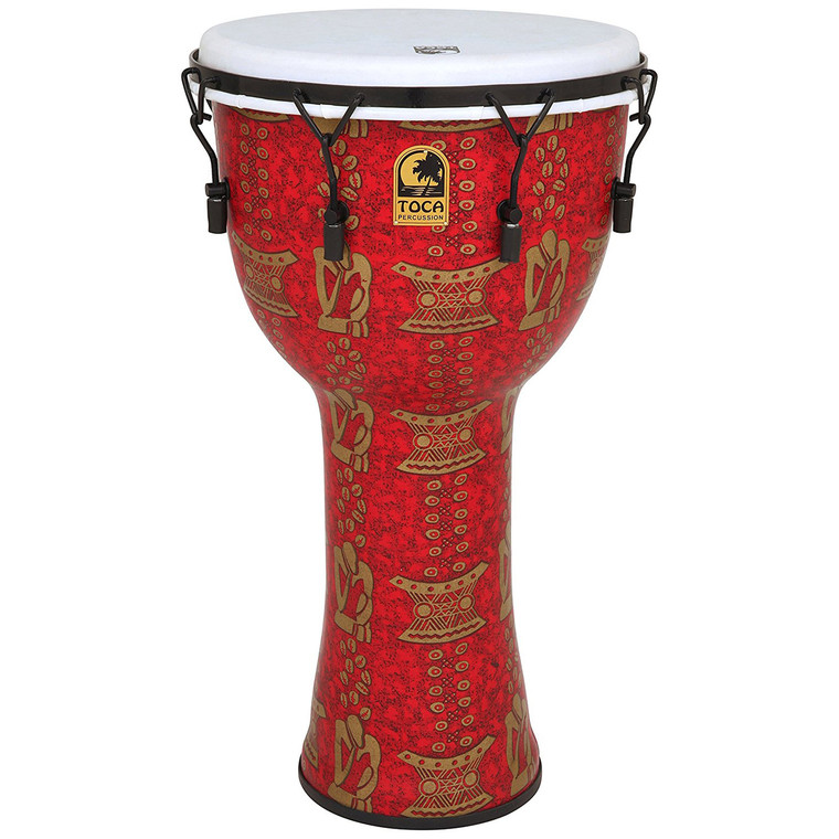 Toca FreeStyle II 14-Inch Mechanically Tuned Djembe with Bag, Thinker