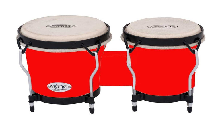 Toca Synergy Synthetic Bongos, Red