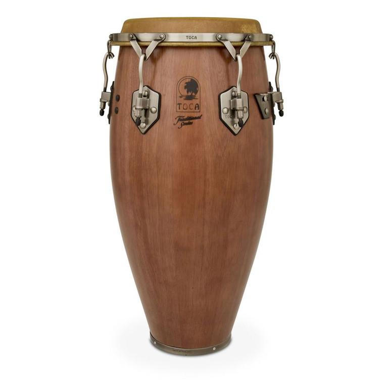 Toca Traditional 12-1/2 in. Tumba Conga Drum, Dark Walnut (3912-1/2D)