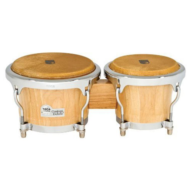 Toca 4600-NW Custom Deluxe Wood Bongos, Natural