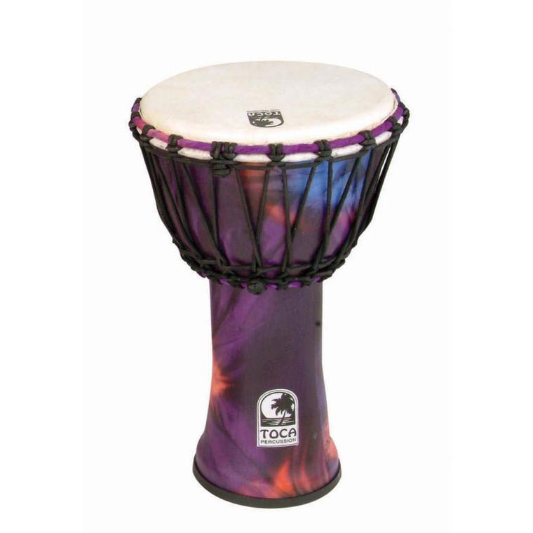"Toca Freestyle Djembe, Woodstock Purple, 7"" Head x 12"" Tall"