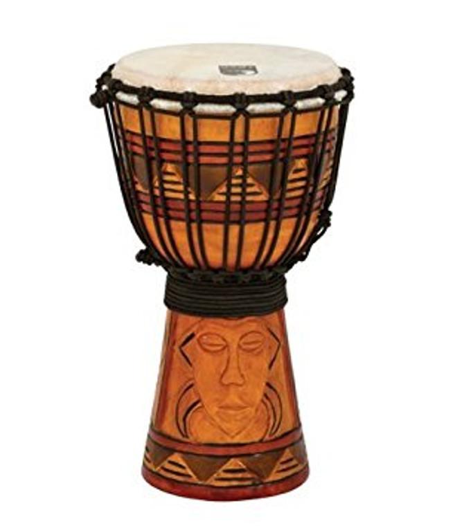 """Toca Origin Series Djembe, Tribal Mask, 7"""" Head x 12"""" Tall"""