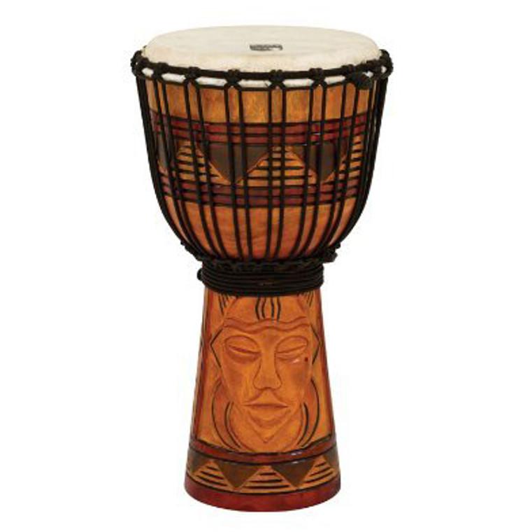 """Toca Origin Series Djembe, Tribal Mask, 8"""" Head x 16"""" Tall"""