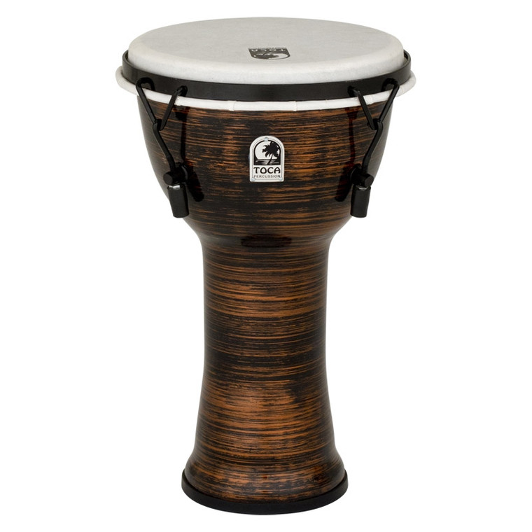Toca Freestyle 9 in. Spun Copper Mechanically-Tuned Djembe