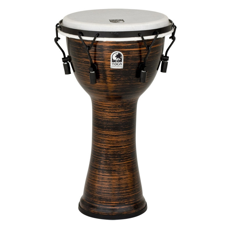 Toca Freestyle 10 in. Spun Copper Mechanically-Tuned Djembe