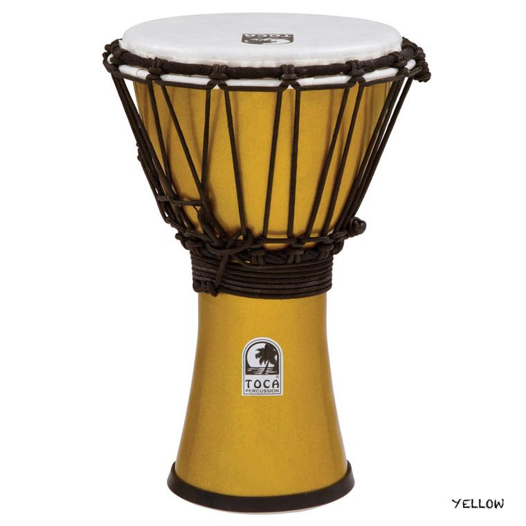 Toca Freestyle ColorSound Djembe, Metallic Yellow
