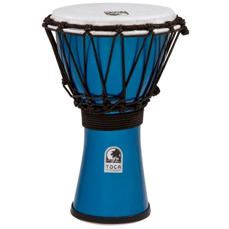 Toca Freestyle ColorSound Djembe, Metallic Blue