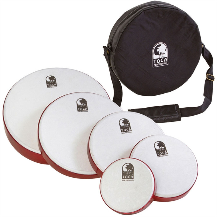 Toca Freestyle Frame Drums - 5 Pack with Bag