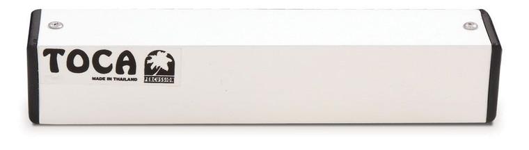 Toca 8 in. Aluminum Square Shakers, White