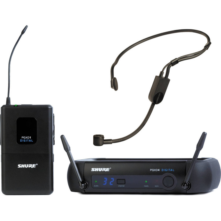 Shure PGXD14/PGA31 Digital Wireless Headset Microphone System