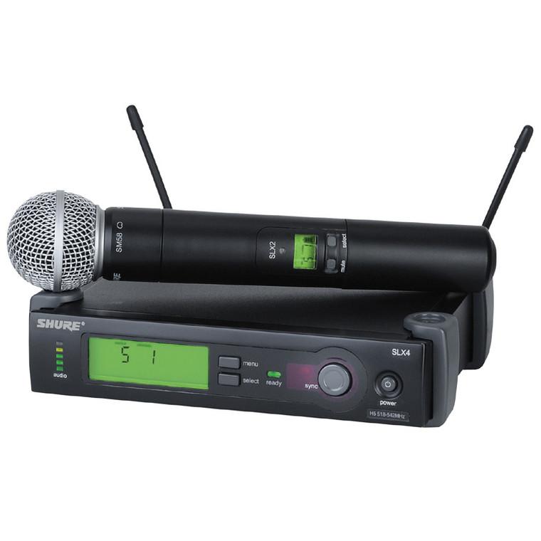 Shure SLX24/SM58-J3 Handheld Wireless Microphone System