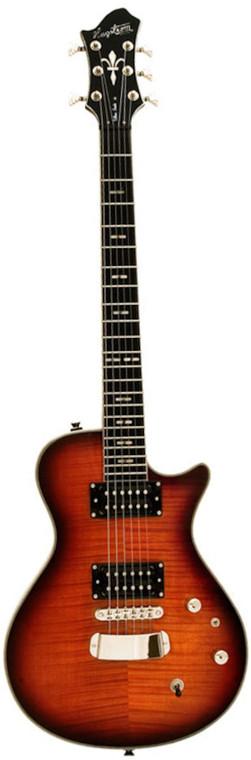 Hagstrom 6 String Ultra Swede Electric Guitar - Golden Eagle Burst