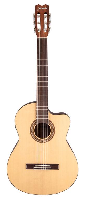 Jasmine JC-25CE Cutaway Classical Acoustic/Electric Guitar- Natural