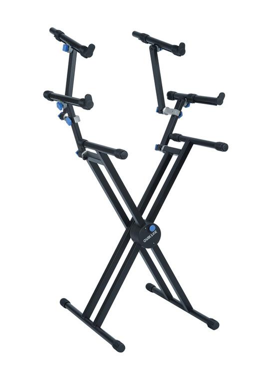 Quick Lok Professional Double Braced Triple Tier X Keyboard Stand