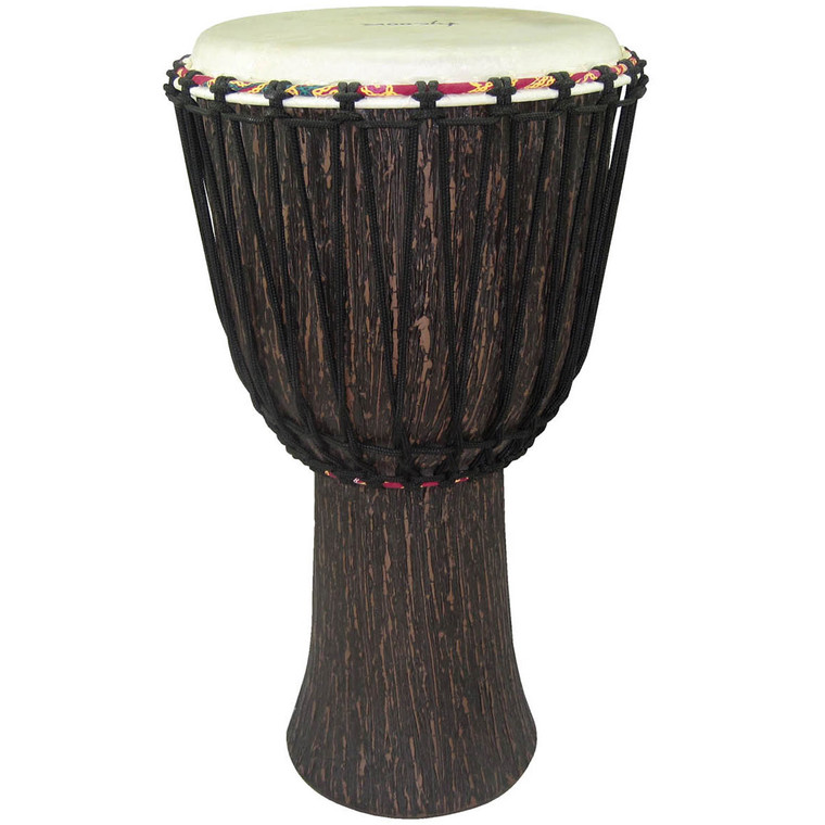 Tycoon Supremo Select Series 12 Inch Rope Tuned Djembe Lava Wood Finish