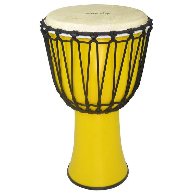 "Tycoon 10"" Fiberglass Djembe  Rope Tuned Yellow Finish"