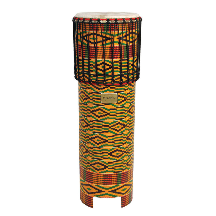 Tycoon Kente Cloth Ngoma Drum