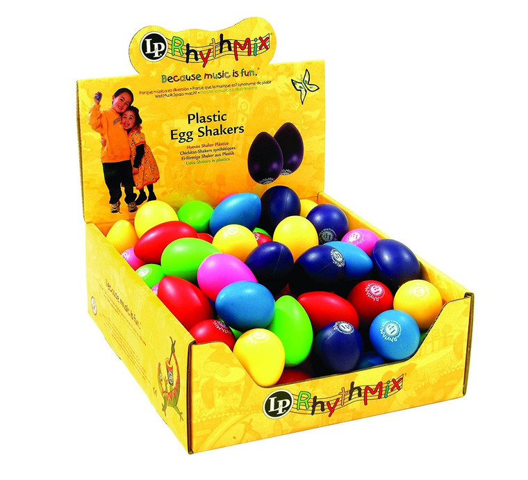 LP Rhythmix Plastic Egg Shakers 48-Piece, Assorted Color (LPR001BD48-I)